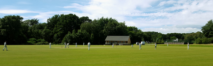 Cricket match at Roebuck Park, Hellingly